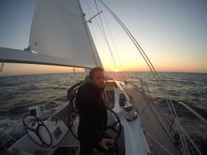 North Sea sun rise